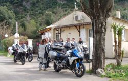 Rencontre nationale CDLR 2018. Arrivée des motos au camping Le Bel Ete Anduze. Photo Christophe Vincentz