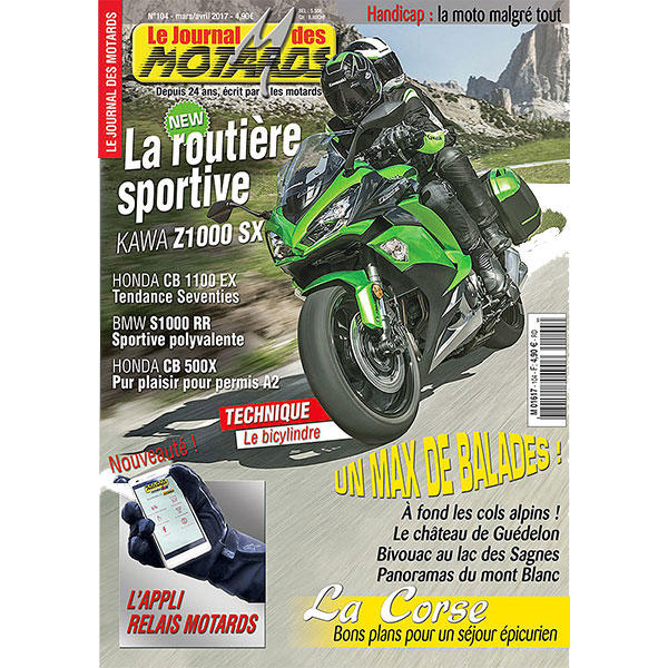 LE JOURNAL DES MOTARDS n°104 - mars/avril 2017